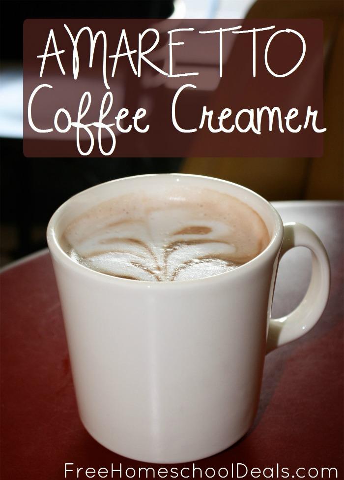 Easy Homemade Amaretto Coffee Creamer | Free Homeschool Deals ©
