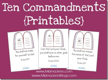 free ten commandments printables and copywork