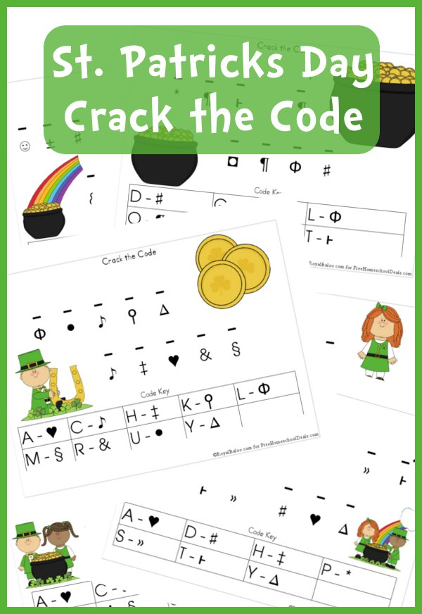 free worksheets st patricks day crack the code
