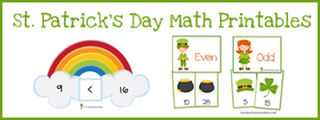 Free St. Patrick's Day Math Printables