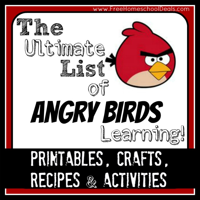 angry bird woeksheets