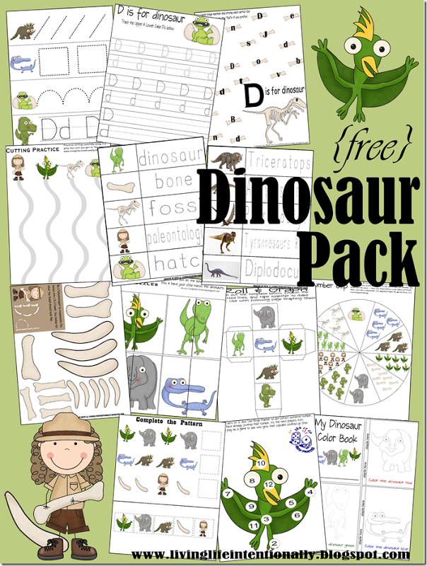 free preschool printables dinosaur early learning pack free homeschool deals. Black Bedroom Furniture Sets. Home Design Ideas