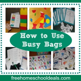 How to Use Busy Bags in Homeschool