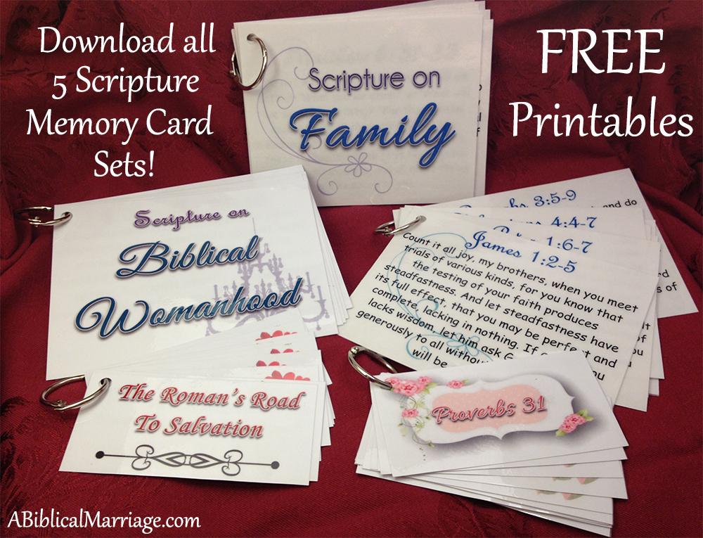 Free Scripture Memory Cards | Free Homeschool Deals