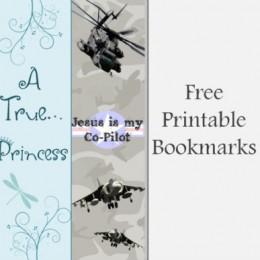 Free Printable Bookmarks (Princess and God's Army)