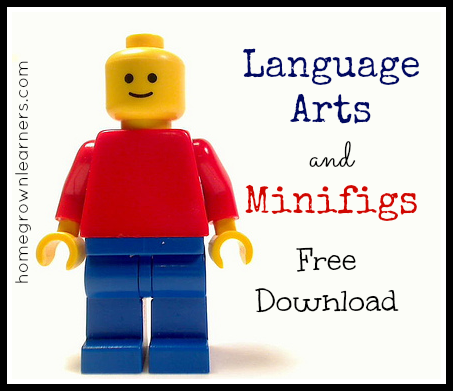 Free Lego Language Arts and Minifigs Download