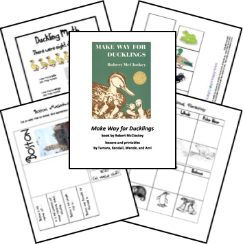 FREE Make Way for Ducklings Unit Study and Lapbook Printables