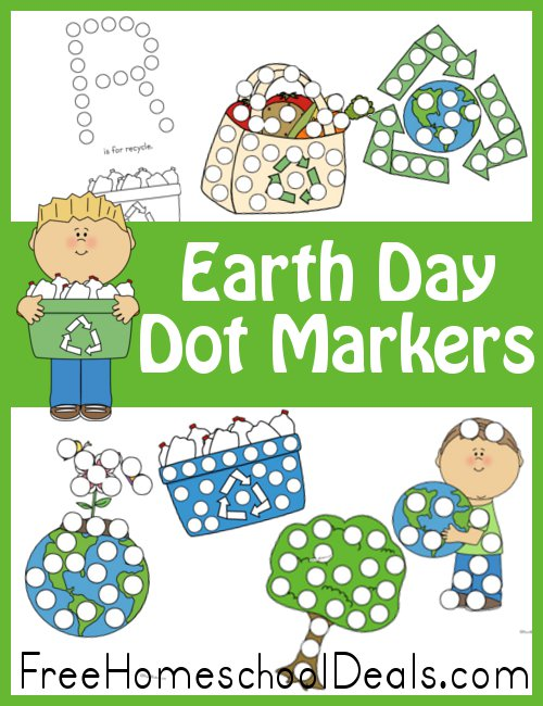 Free Earth Day Dot Marker Set 16Pages