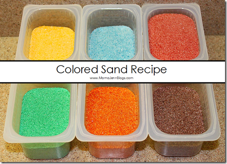 DIY Colored Sand