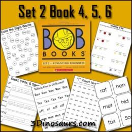 Free Homeschool Printables: BOB Book Set 2 Book 4, 5, 6