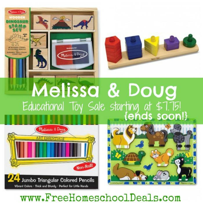 Melissa And Doug Educational Toys : Melissa and doug educational toy sale starting at