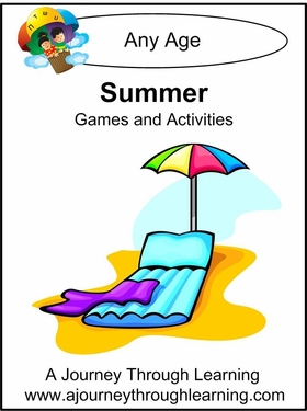 Free Summer Games and Activities Printable Packet from A Journey Through Learning
