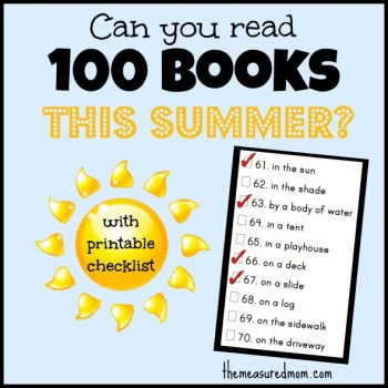 free summer reading challenge checklist