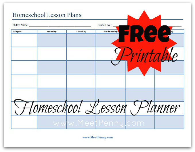 Ultimate Free Homeschool Planning List Free Homeschool Planners – Free Lesson Plan Format