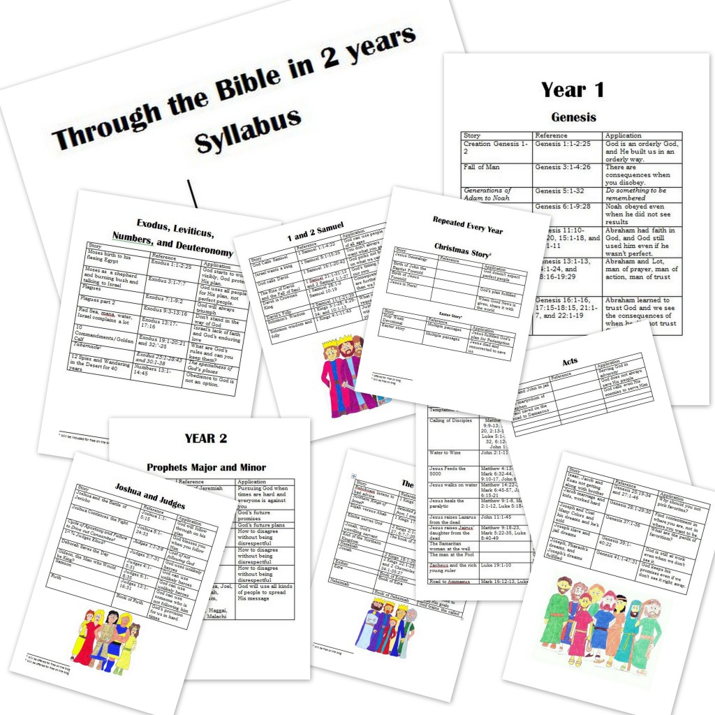 Free Bible Curriculum: Family Bible Curriculum 2 Year Syllabus