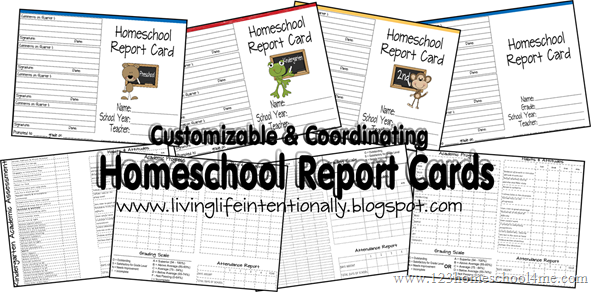 Free Homeschool Report Card Printables