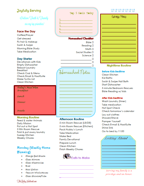 Free Daily & Weekly Planner Printables for Homeschool Moms