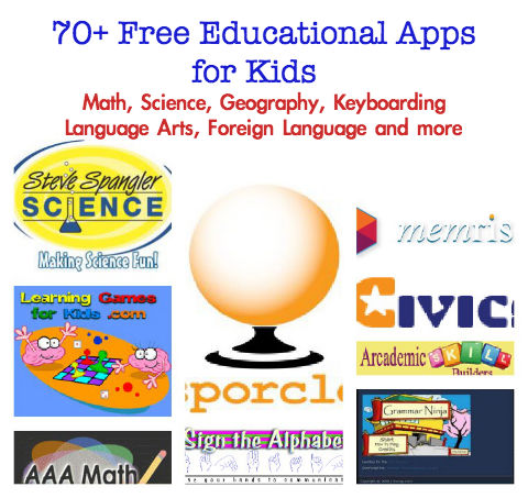 0 Free Kids Educational Resources: Lessons, Apps