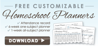free downloadable homeschool planner