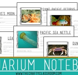 Free 75-Page Aquarium Notebooking Pages Set