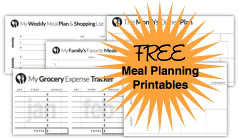 Free Meal Planning Printables from Savings Lifestyle