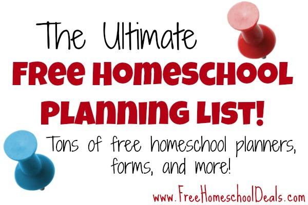 Ultimate Free Homeschool Planning List