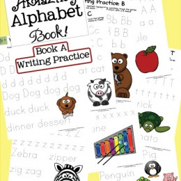 2 FREE The Amazing Alphabet Book! Writing Practice and Letter Hunts (Subscriber Freebie)