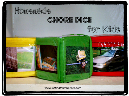 frugal homemade chore dice