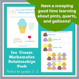Free Ice-Cream Math Printable Worksheets: Grades 2-5