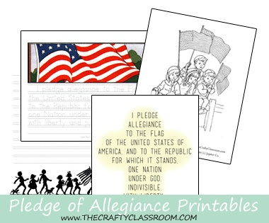 Free pledge of allegiance printables free homeschool deals for Pledge of allegiance coloring page