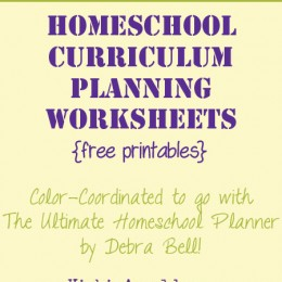 Free Homeschool Curriculum Planning Pages