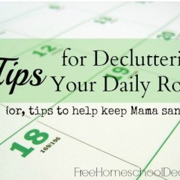 5 Tips for Decluttering Your Daily Routine {or, tips to help keep Mama sane}