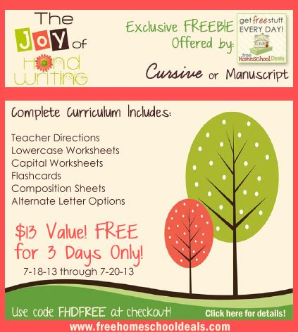 Exclusive FREEBIE: Joy of Handwriting Curriculum $13 Value (Your ...