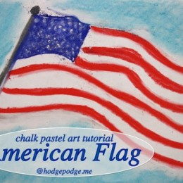 Free American Flag Chalk Pastel Art Tutorial