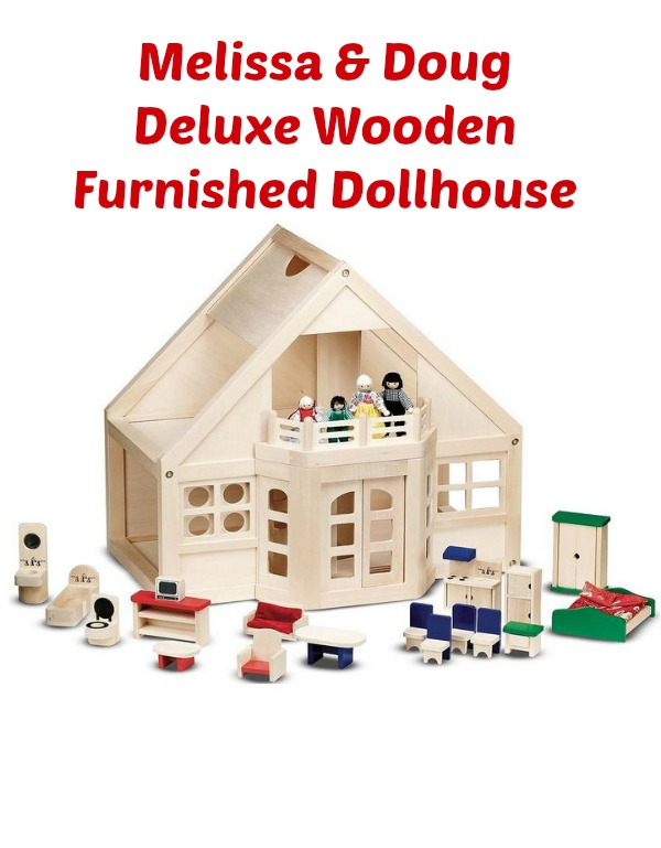 Melissa Amp Doug Deluxe Wooden Furnished Dollhouse For 68
