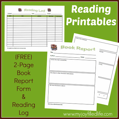 Free Book Report & Reading Log Printables