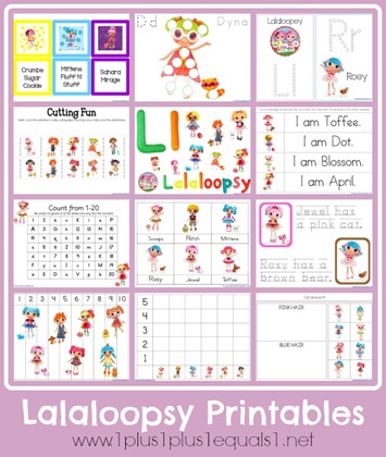 Free Lalaloopsy Learning Printables