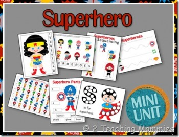 Free Superhero Preschool Printables