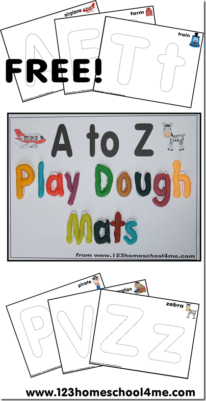 Free Playdough Mats Alphabet Letters From A To Z Free