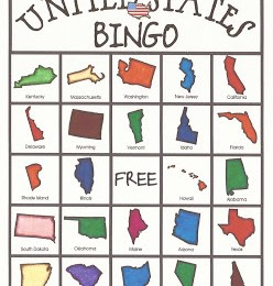 Free United States Bingo Game Printables