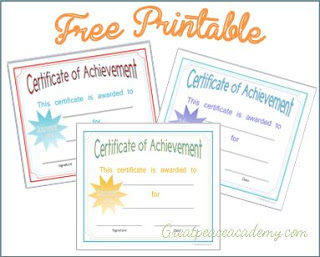 Free Printable Certificate Of Achievement  Printable Certificates Of Achievement