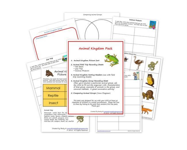 free animal kingdom printable pack free homeschool deals. Black Bedroom Furniture Sets. Home Design Ideas