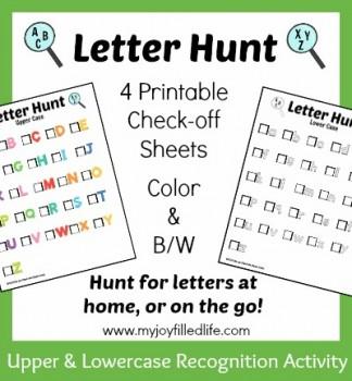 Free Letter Hunt Printables Free Homeschool Deals