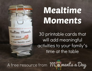 30 Free Printable Activity Cards to Build Character at the Dinner Table