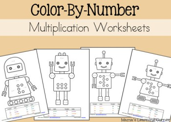 free color by number worksheets prek 2 free homeschool deals. Black Bedroom Furniture Sets. Home Design Ideas