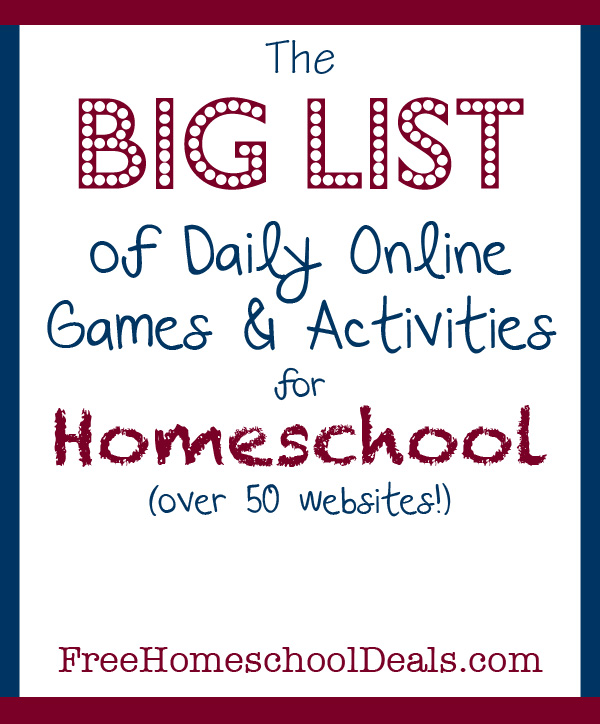 online games and activities for homeschool