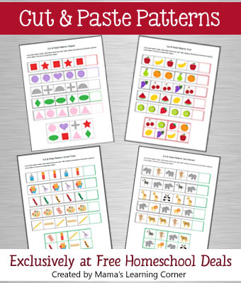 math worksheet : free download cut  paste patterns printable packet  free  : Kindergarten Cut And Paste Worksheets Free