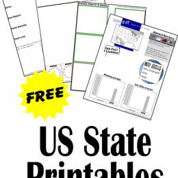 Free US State Printable Worksheets