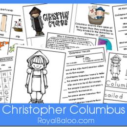 Free Christopher Columbus Unit Printables