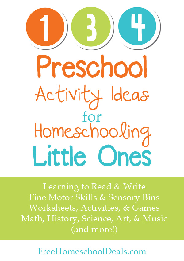 Preschool Activity Ideas For Homeschooling Little Ones Free